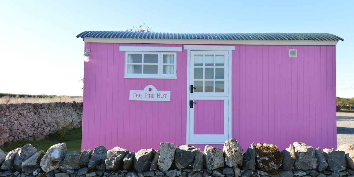 The Pink Hut Outside The Outbuildings